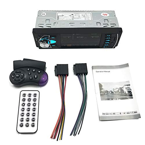 azfdxgfc 616UAB Multimedia-Autoradio - Single Din LCD, Bluetooth-Audioanruf, eingebautes Mikrofon, MP3-USB, AUX-Eingang, AM FM-Radioempfänger