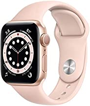 Apple Watch Series 6 (GPS) 40mm Gold Aluminum Case with Pink Sand Sport Band - Gold