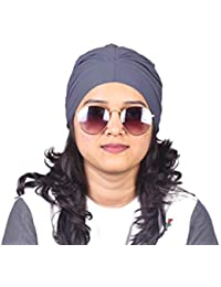 GRAY CHEMO BEANIES CANCER CAPS WOMEN SUMMER CHEMO CAPS SLEEP TURBAN FOR  WOMEN UNDERSCARF CAPS UNDER 120e2321e68d