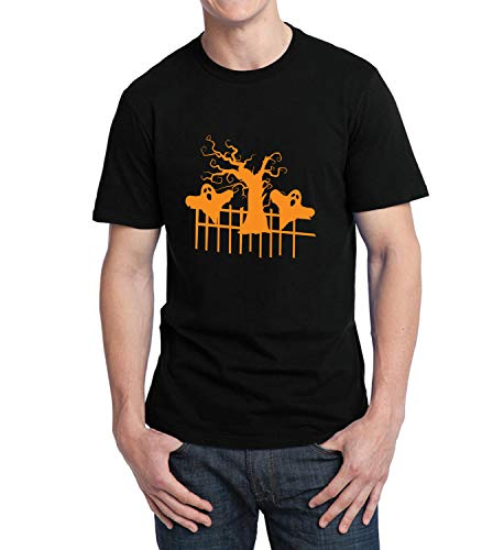 y Scary Tree_006272 T-Shirt Birthday for Him SM Men Black ()