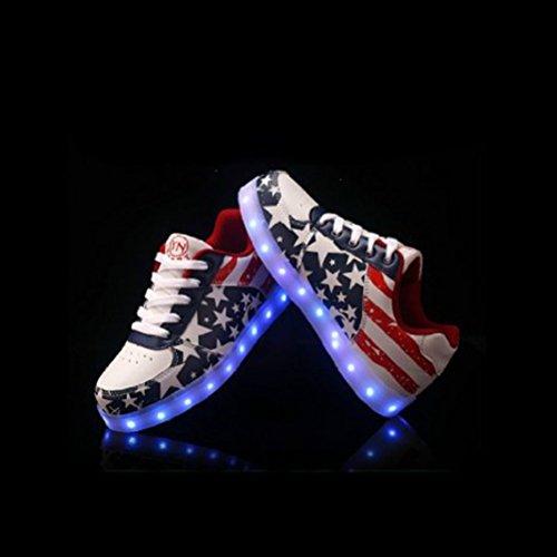 [Présents:petite serviette]JUNGLEST® Chaussures Led 7 Couleurs Étoile MotifS neakers Usb Charge Ba initial