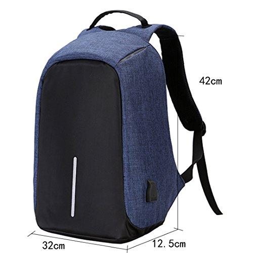 La Haute di zaino con caricatore impermeabile Business PC zaino leggero zaino da viaggio zaino da trekking, casual Daypacks Blue