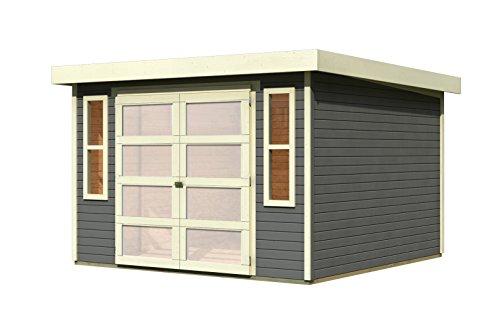 Karibu Gartenhaus Mühlendorf 5 terragrau 19 mm