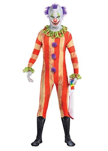 Kinder Größe Halloween Killer Clown 2nd Skin Kostüm Large (10-12 years)