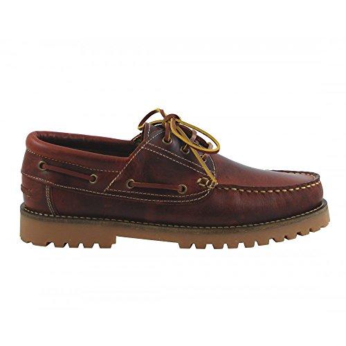 Zapato náutico piel clásico duradero cordones hombre
