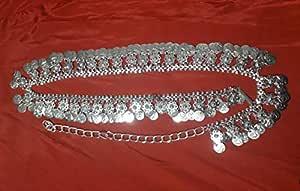 Kaku Fancy Dresses Silver Belt/Ethnic Jewellery/Kamarband Jewellery/Silver Kamarpati Jewellery -Silver, Free Size, for Girls