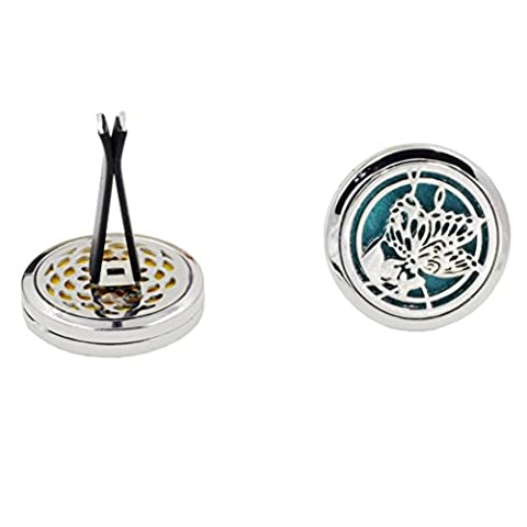 IGEMY 10 Style Stainless Car Air Vent Freshener Essential Oil Diffuser Locket (C)