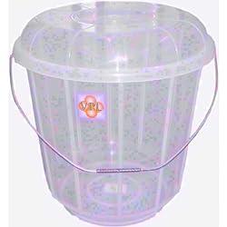 Mini 3 Litre Clear Plastic Bucket Bin With Lid