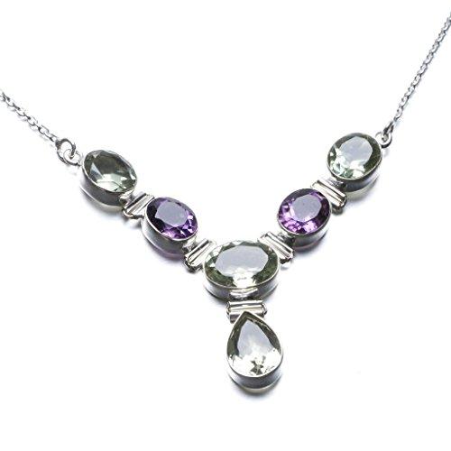 stargems-tm-naturale-verde-ametista-e-ametista-unico-design-925-sterling-silver-necklace-17-3-4