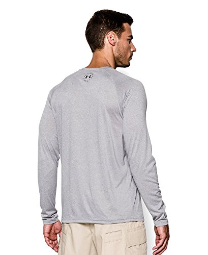 Under Armour Ua Men'Wwp Herren Tech Long Sleeve Mehrfarbig - True Gray Heather/Black