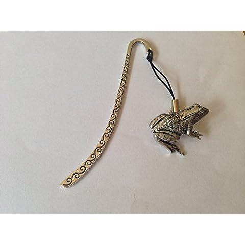 A14 a forma di rana, con segnalibro 3D con ciondolo in peltro inglese by Prideindetails made in sheffield