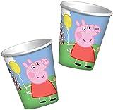 8 Peppa Pig Summer Fun Children's Party 266ml Paper Cups