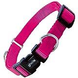 Gloria Nylon Doppel-Ring Hundehalsband (2 x 43-55cm) (Pink)