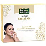 Roop Mantra Herbal Facial Kit 260gm for Glowing, Flawless & Moisturized Skin Tone (Cleansing Milk, Face Scrub, Massage Gel, Face Pack, Nourishing Cream, Face Bleach)