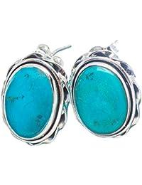 Arizona Turquoise, 925 Sterling Silber Ohrringe 3 4