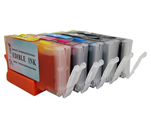 F-INK - Cartucho de Tinta Recargable y Comestible para impresoras Canon PGI-550 CLI-551, Compatible con PIXMA iP7250 MG5450 MG5550 iX6850 MX725 MX925 MG6450 MG5650 MG6650