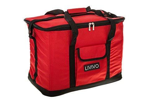 Livivo Extragroße Kühltasche, 30Liter, 60Dosen, faltbar, Picknick, Camping