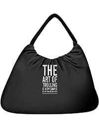 Snoogg The Art Of Trolling Beach Tote Shopper Bag Handbag Shoulder