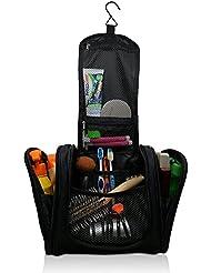 Kulturbeutel, Kulturtasche, Kosmetiktasche für Herren, Damen und Kinder zum Aufhängen. Waschtasche groß in XL für die Reise, blau und schwarz