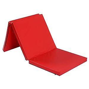 COSTWAY Weichbodenmatte 183X61X5CM   Gymnastikmatte klappbar   Yogamatte mit...