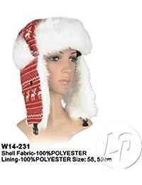 Juego de 12–Gorro chapka diseño renos con forro rojo–Calidad coolminiprix®