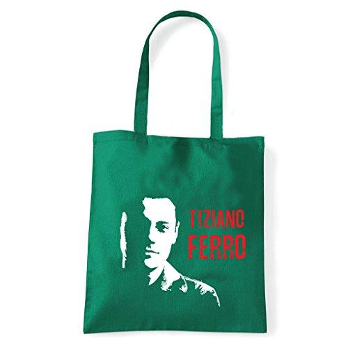 Art T-shirt, Borsa Shoulder Tiziano Ferro Verde