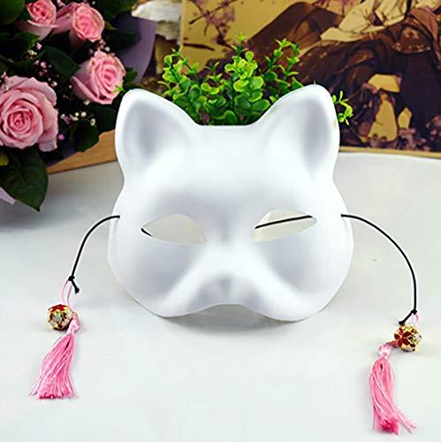 Mascarade Halbmaske aus PVC-Kunststoff, handbemalte Tiermaske, Eco-Stage-Cosplay-Maske (Farbe : B)