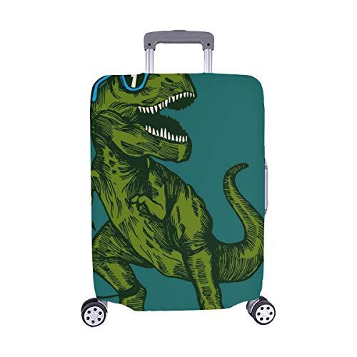 (Nur abdecken) Happy Dinosaur Surfer Tragen Sonnenbrillen Zeichnung Staubschutz Trolley Protector case Reisegepäck Beschützer Koffer Cover 28,5 X 20,5 Zoll