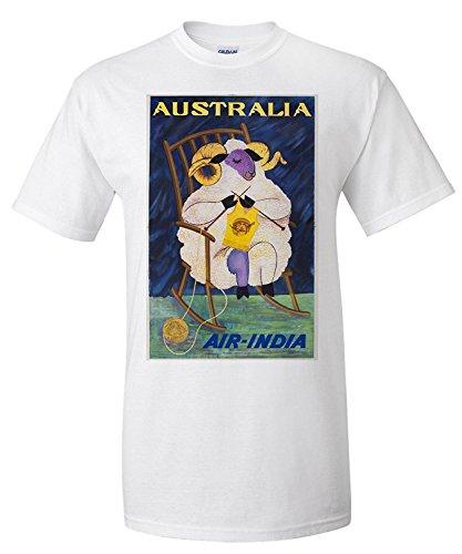 air-india-australia-vintage-poster-c-1968-premium-t-shirt
