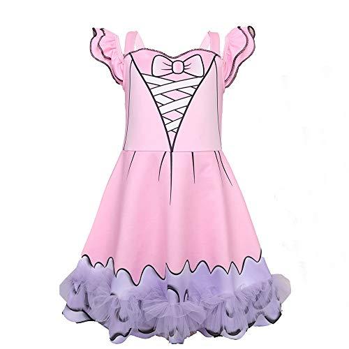 Kostüm Bug Lady Lovely - ALAMing Mädchen Cosplay Kostüm Kids Lady Bug Girl Fancy Party Ganzkörperanzug Kleidung 2-9 Jahre Gr. 6-7 Jahre, Style02