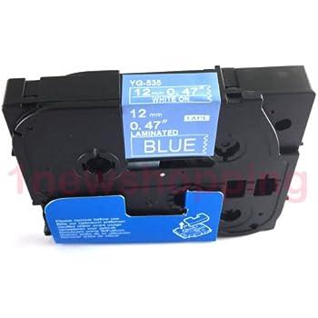 2x kompatible Schriftbänder für Brother TZE535 Weiss auf Blau 12mm x 8m-Office P