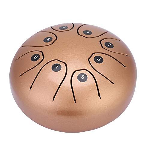 Tongue drum. Tambor de mano de acero inoxidable con par de mazos y bolsa de ransporte