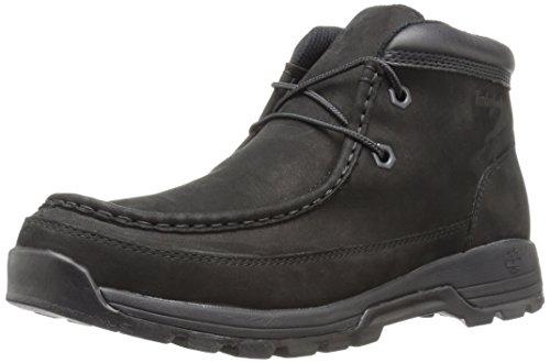 Timberland Men's Stratmore Moc Toe Boot, Black Nubuck, 7.5 M US Boot Mocs Mocs
