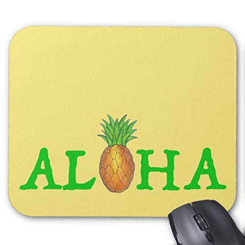 Mauspad 20*24cm Mousepad in Standard-Gr??e, rutschfest-Aloha tropischen Hawaii-Insel Ananasfrucht