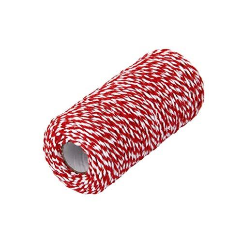 Cord Bäcker (Vosarea Gestreifte Kirsche rot - dekorative Bäcker-Schnur für DIY Handwerk und Geschenkpapier 200m (rot + weiß))