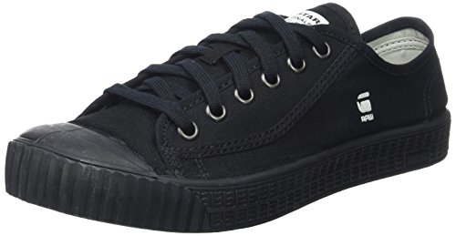 G-star Tragen (G-Star Herren Rovulc Denim Low Sneakers, Schwarz (Black 990), 44 EU)