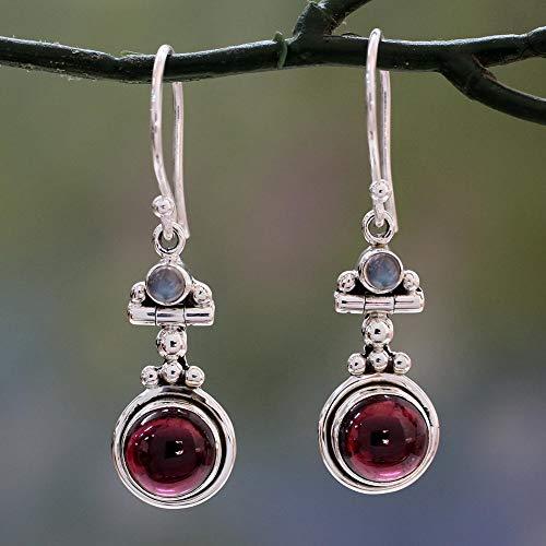 Yimosecoxiang Shining donne vintage Faux rubino goccia gancio orecchini pendenti partito gioielli banchetto Gift-rosso e Acciaio inossidabile, colore: Red, cod. 1315395-yimosecoxiang-uk