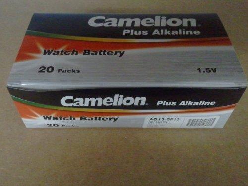 Camelion AG13 / LR44 / A76 / GP76A / 357 Typ Alkali-Mangan 20 x 10er Blister (200 Zellen)