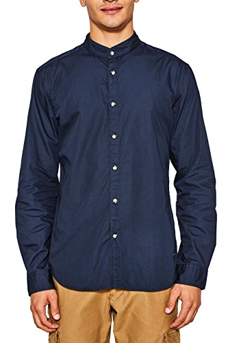 Edc by esprit 087cc2f010, camicia uomo, blu (navy 400), medium