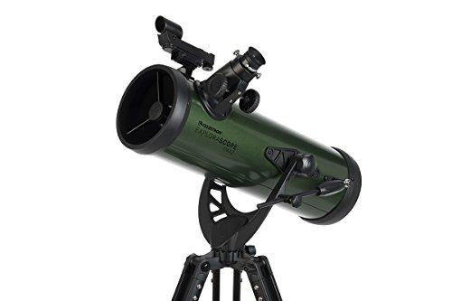 Celestron ExploraScope AZ - Telescopio astronómico (114 mm de Apertura, 1000 mm de Distancia Focal, f/9 de relación Focal) Color Verde y Negro