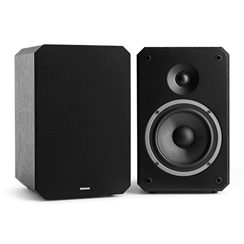 Kompakt-regale (NUMAN Octavox 702 MKII • Regal-Lautsprecher • Lautsprecher-Boxen • HiFi-Boxen • high-end Boxen • 2-Wege-Lautsprechersystem • 100 Watt max. • Bassreflex • abnehmbare Lautsprecherabdeckung • schwarz)