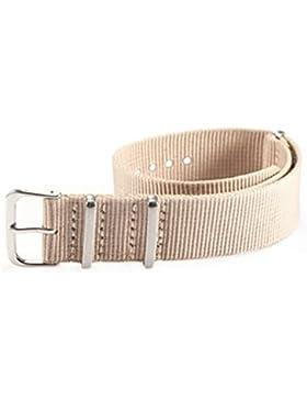 SODIAL(R) 20 mm Nylon Uhrenband Durchzugsband Uhrenarmband Uhren Armband Band Unisex Neu