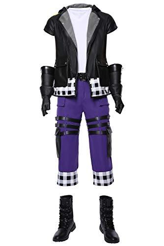 Karnestore Kingdom Hearts III Riku Outfit Cosplay Kostüm Herren ()