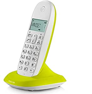 MOTOROLA C1001LI COLOURFUL CORDLESS PHONE LIME LEMON