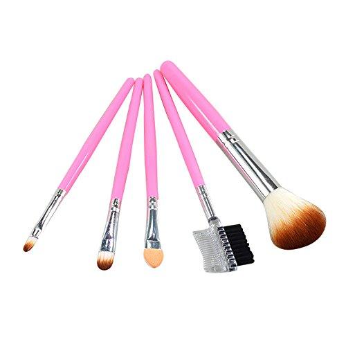 5 Stück Make-up Pinsel EyeShadow Brush Kosmetik-Mix-Pinselwerkzeug Brush Set Pinselset Verfassungs...