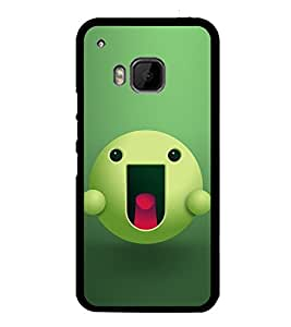 Green Cartoon with Pink Tongue 2D Hard Polycarbonate Designer Back Case Cover for HTC One M9 :: HTC One M9S :: HTC M9 :: HTC One Hima