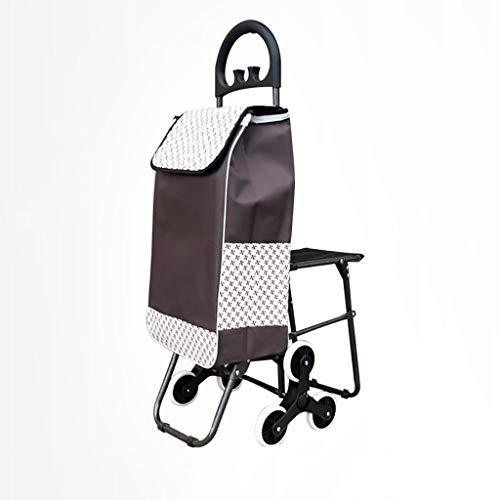RTTgv Einkaufstrolleys Tragbare Radverschönerung des Einkaufskorbsitzes und des Kinderwagens des beweglichen zusätzlichen Beutel-Einkaufskorbes (Farbe : A)