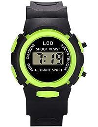 Loolik Niños Relojes, Moda Impermeable de Resina LED Digital Analógico Electrónico Deportes Niños ...