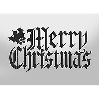 PixieBitz Merry Christmas Mylar Schablone, A4297x 210mm Art Wand, Möbel, Fenster, Stoff Schablone