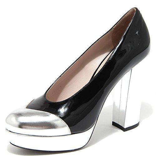 62531 decollete MIU MIU argento scarpa donna shoes women [40]